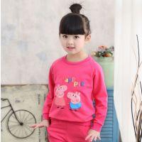 山东泰安哪里有童装套装批发市场 厂家直销几元纯棉女士童装套装货源批发