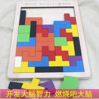 俄罗斯方块拼图3儿童玩具4-6周岁女男孩开发大脑益智力积木幼儿园