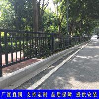 广州黑色人行道护栏厂家 汕头道路市政隔离栏 热镀锌港式防护栏