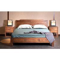 新中式实木家具卧室陈设