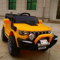 新款越野儿童电动玩具遥控汽车宝宝四轮可坐开门童车摇摆一件代发
