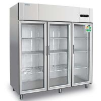 COOLMES冰立方S1.6G3大三门冷藏展示柜玻璃门冰箱厨房设备工程