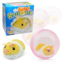 滚球小仓鼠电动玩具抓娃娃机毛绒玩具滚动仓鼠透明球批发跨境货源