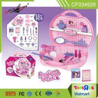 热卖女孩过家家儿童化妆品口红彩妆玩具饰品套装手提箱厂家直销