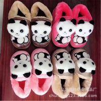 卡通皮棉鞋冬季新款 儿童棉鞋居家舒适保暖厚底拖鞋 地摊货源批发