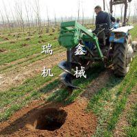 瑞鑫牌优质种树机 泸州市快速挖坑打眼机 大型植树挖坑机