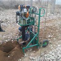 驰航四轮拖拉机带动挖孔机 新款后悬挂打洞机 多功能钻坑机哪里有卖
