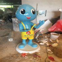 中山卡通玻璃钢雕塑厂家 旅游景区迎宾卡通人物雕塑定制
