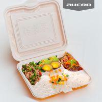 澳强四格连体打包盒四格快餐盒一次性便当PP塑料打包盒批发外卖盒食品包装