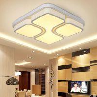正方形LED吸顶客厅灯 现代简约卧室灯 时尚灯具灯饰批发