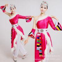 新款特价成人演出服少数民族表演服蒙族女童舞蹈服藏族幼儿蒙古