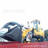 多功能机械式抓木机 小型装载机操作视频 多种规格轮式装载机湖南
