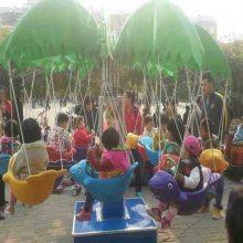 儿童旋转小飞鱼 电动旋转木马 两用型秋千鱼价格 广场游乐设备