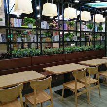 肠粉豆浆店靠墙卡座沙发桌椅,时尚快餐厅家具定制