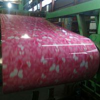 厂家生产 网纹彩涂板 印花板 可开平分条覆膜