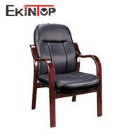 经典款真皮shi木扶手会议椅 传统班前会谈椅 直腿海绵坐垫座谈椅