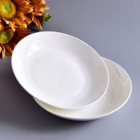 唐山奥美瓷业批发陶瓷盘子 家用热菜盘 纯白骨质瓷餐具