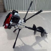 专业生产汽油四冲程挖坑机 电线杆埋设钻眼机 驰航大功率地钻打洞机