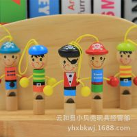 奥尔夫儿童卡通海盗口哨挂件 木制吹奏乐器 婴儿益智玩具工厂批发