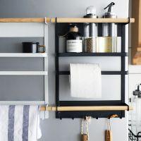 创意铁艺磁性收纳架冰箱侧壁餐巾挂架厨房多功能免安装置物架