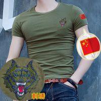 夏季军装短袖特种兵T恤男户外军训服迷彩服军迷服装狼头定制logo