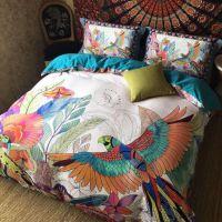 欧式床上用品80支贡缎全棉四美式长绒棉件套纯棉床单1.8m2.0被套