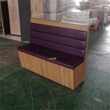 郴州串串火锅店卡座沙发定做,竖条造型板式卡座系列