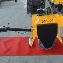 小型单钢轮压路机 手扶式振动压土机 600沥青压实机