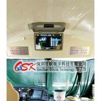 中巴商务车18.5寸吸顶式车载DVD 插卡FM发射显示器