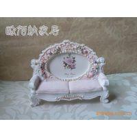 田园风格情侣粉色婚纱照片框欧式小沙发相框相架浮雕玫瑰像框像架