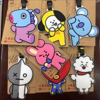 韩国 男子偶像天团 BTS 防弹少年团造型PVC 行李牌 旅行箱吊牌