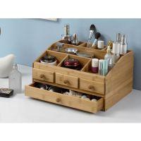 桌面化妆品收纳盒 梳妆台创意口红护肤品置物架收纳盒