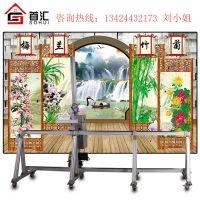 首汇墙体彩绘机 高清背景墙体喷绘机 厂家直销