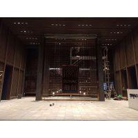 专业铝合金屏风、黄铜板雕刻镂空屏风设计及安装