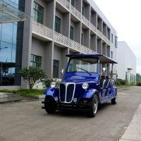 厂家直销AS-008 8人座蓝色四轮电动观光车看车电动老爷车