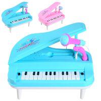 儿童早教23键带话筒电子琴多功能声光糖果色弹奏乐器玩具1-6岁525