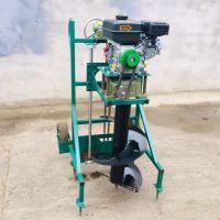 电线杆专用挖坑机 立柱挖坑机型号 启航埋桩打眼机