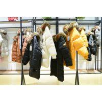 品牌女装走份折扣店杰艾丝18年冬装新款羽绒服大衣