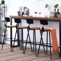 复古铁艺吧台椅子高脚凳子公司休闲奶茶咖啡店酒吧台家用吧台桌椅