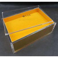 厂家直销品质款亚克力盒子加工定制透明布金海参鹿茸保健品包装盒