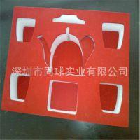 定做茶壶四杯套eva定位防护包装 精油口服液精品包装六边形玩具盒
