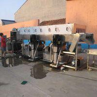 全自动生蚝喷淋清洗机 洗火龙果机器 清洗大葱设备 鼎鸿加工定制