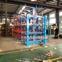 常州管材货架伸缩式结构设计 小空间存放管材 圆钢 槽钢 角钢 型材 轴类 钢棒