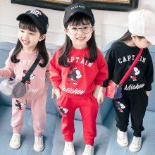 秋季外贸韩版童装卫衣长裤俩件套地摊库存儿童运动服套装尾货清仓