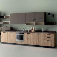 成都橱柜定做 整体现代简约橱柜定制开放式厨房装修厨柜门板订做