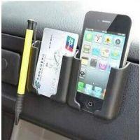 多用途车载多用途导航支架 胶粘式车用手机座 名片夹伸缩款手机架