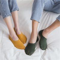 春夏情侣袜子硅胶防滑隐形袜男女短袜纯棉浅口低帮船袜纯色袜拖潮