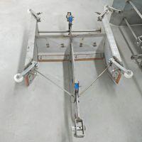 畜牧养殖业猪粪便处理机械 猪场养殖一拖二刮粪机 V型刮板式清粪机