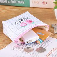 韩版短款女士小钱包超薄布艺零钱包学生迷你卡包可爱拉链硬币包