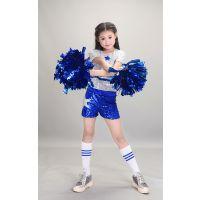 六一儿童啦啦操演出服装男女童爵士嘻哈舞亮片服中小学生拉拉队服